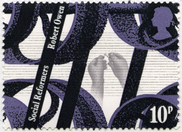 Machinery (Robert Owen) stamp from Social Reformers issue, April 1976