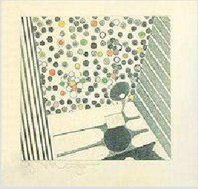Obra de Georg Muche en el Cartapacio que profesores de la Bauhaus hicieron para Walter Gropius. | Bauhaus... Un regalo para Gropius en el blog del Observatorio Español del Diseño