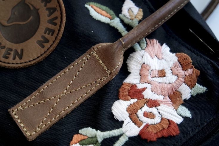 My old new favorite bag  Above you can se a before and after of my latest and biggest project for a while – my hand embroidered Kånken. I bought…