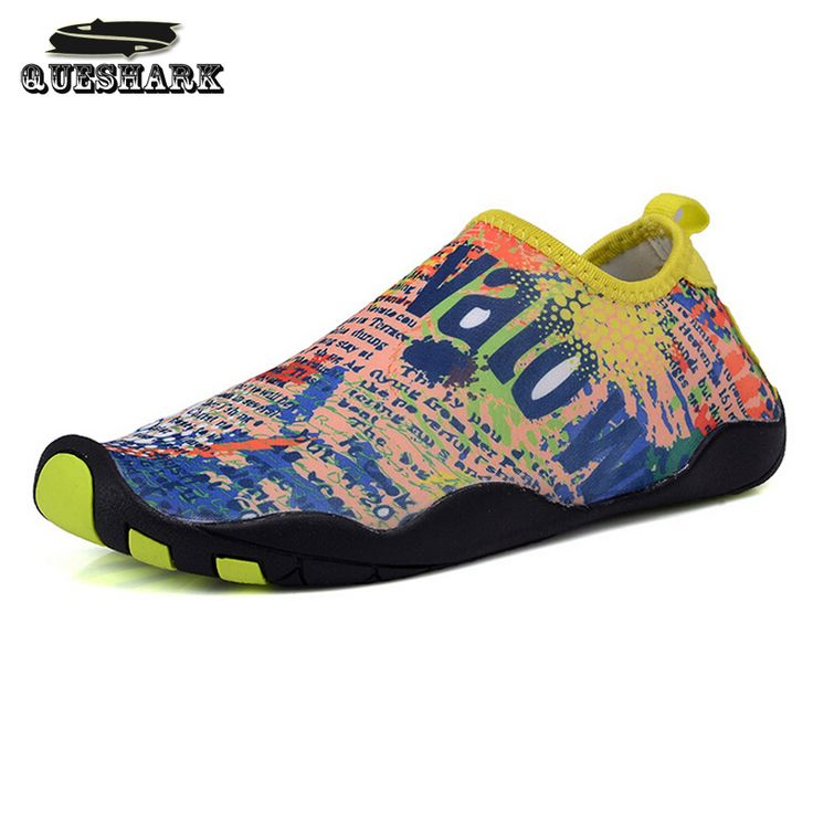 Queshark Men Women Beach Shoes Flat Men Loafers Yoga Surfing Diving Socks Swimming Scubu Snorkeling Boots Outdoor Cycling Shoes