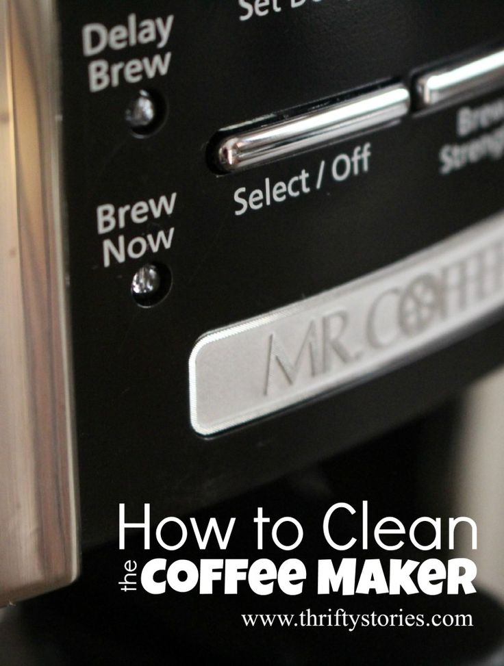How to Clean the Coffee Maker  Need to brew a good cup of coffee but your appliance is filthy? Your morning pick-me-up tasting a little off? Your coffee maker may be long overdue for a deep cleaning. Here's how to easily clean your machine with simple ingredients. It is quick, I promise.  | www.thriftystories.com