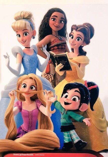Moana Cinderella Belle Rapunzel Amp Vanellope Com Imagens Disney Fofa Papel De Parede