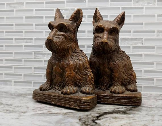 Ornawood Scottie dog bookends midcentury bookends dog