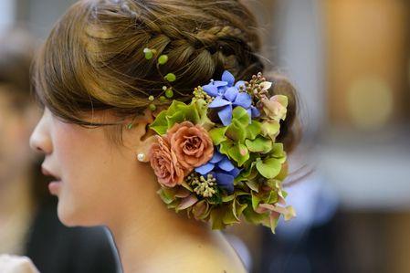 新郎新婦様からのメール ヘッドドレス 代官山パッション様へ 絵本と収穫祭2 : 一会 ウエディングの花
