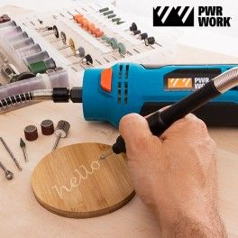 Are you a DIY handyman or want to become one? Get the handy Multipurpose Turbo PWR Work tool now! You'll be able to drill, cut, sharpen, engrave, grind, carve, polish, trim, mill, etc. You can use it on many different materials, such as aluminium plates, timber cladding, plastic, plywood, wooden floors, gypsum board and plasterboard, etc.