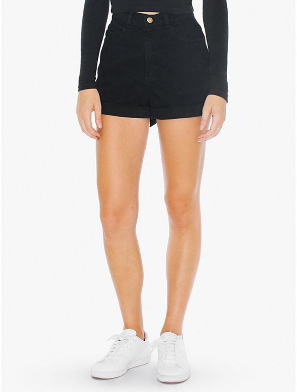 High Waist Denim Shorts from American Apparel $58,00