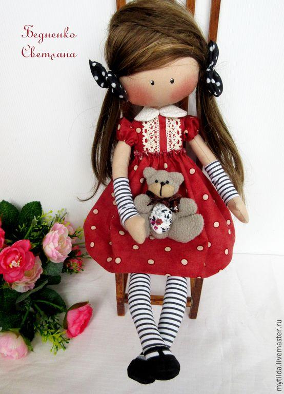 Купить Малышка Горошинка - кукла ручной работы, кукла текстильная, кукла в подарок, куклы и игрушки
