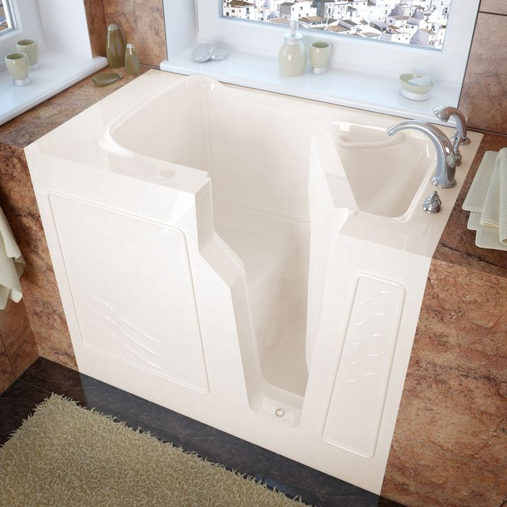 Tub King Walk In Tubs. MediTub 2646RBS Walk In 26 x 46 Right Drain Biscuit Soaking Bathtub 18 best Home Smart Safety Tubs images on Pinterest