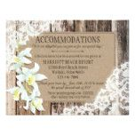 Rustic Orchid Wood Lace Accommodations Card #weddinginspiration #wedding #weddinginvitions #weddingideas #bride