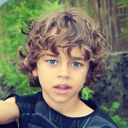 Long Wavy Hairstyle For Little Boys Styles For Wavy Hair Boys