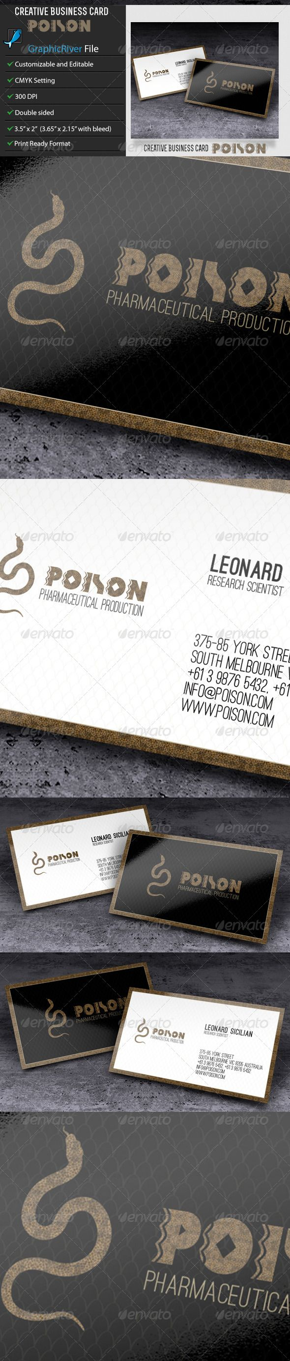 Creative Business Card – Poison