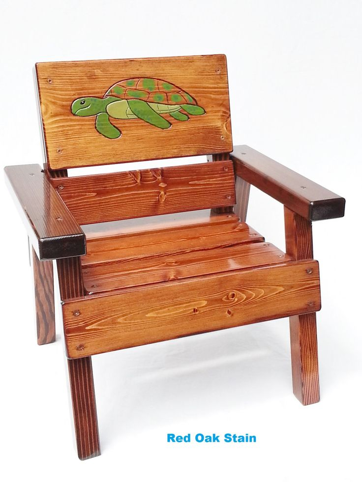 Kids Chair, Childrens Outdoor Coastal Furniture, Engraved Sea Turtle Panel,  Patio, Ocean