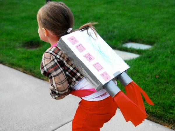 DIY: Create a Jet Pack with a cardboard box and a few other supplies.