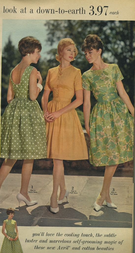 three summer dresses | Spiegel 1963  #vintage #1960s