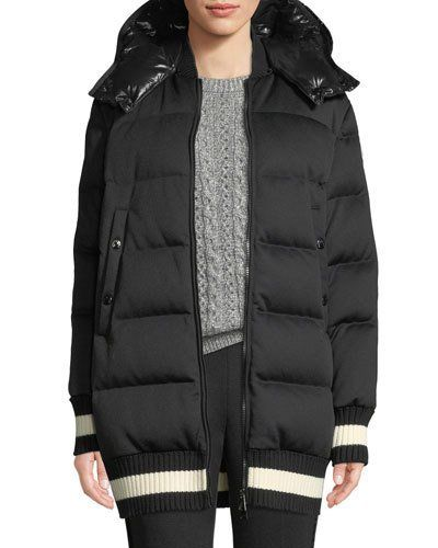 Moncler Harfang Puffer Coat w Contrast Hood | Products