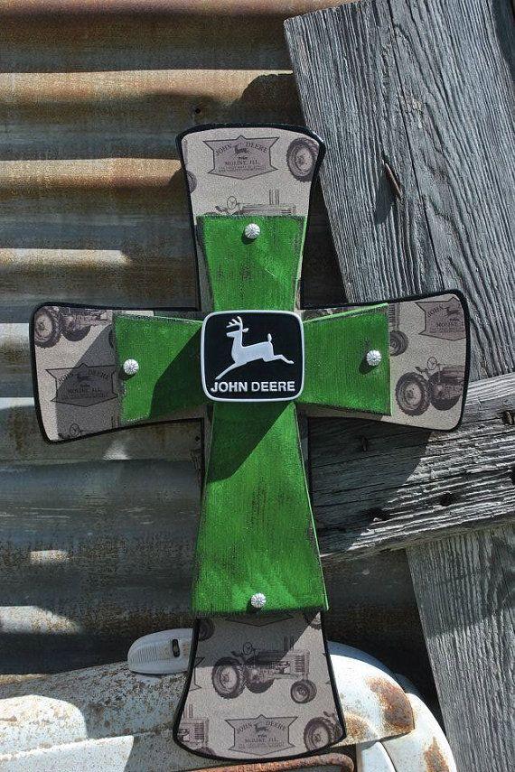 John Deere Cross by SparkleySpur on Etsy, $55.00