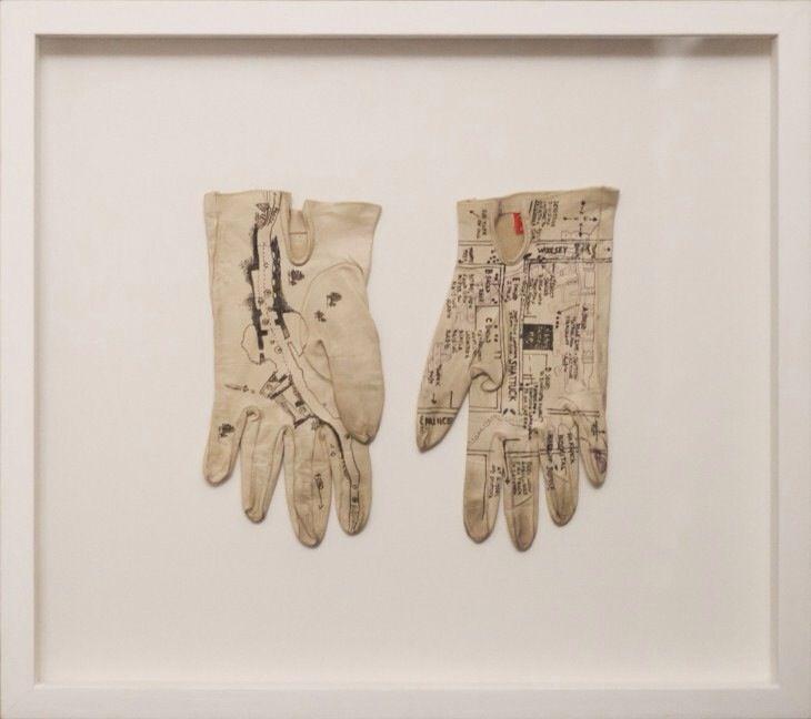 2012 Policemen's maps hand gloves 24x23 cm