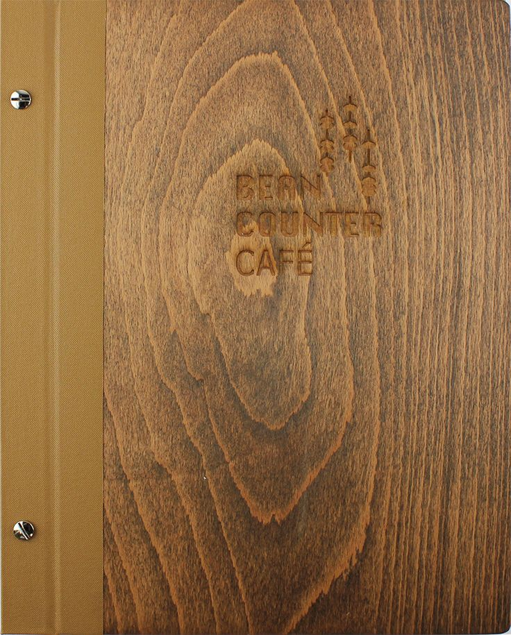 Wood Works | External Hinge - Half Bound - A4 - Mocha Buckram - Walnut Timber - Laser Etching