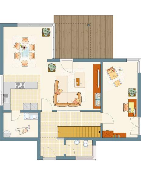 Architektur Trend Modernes Haus Im Bauhaus Stil Mit Flachdach   Jetzt  Hauskatalog Kostenlos Anfordernu2026
