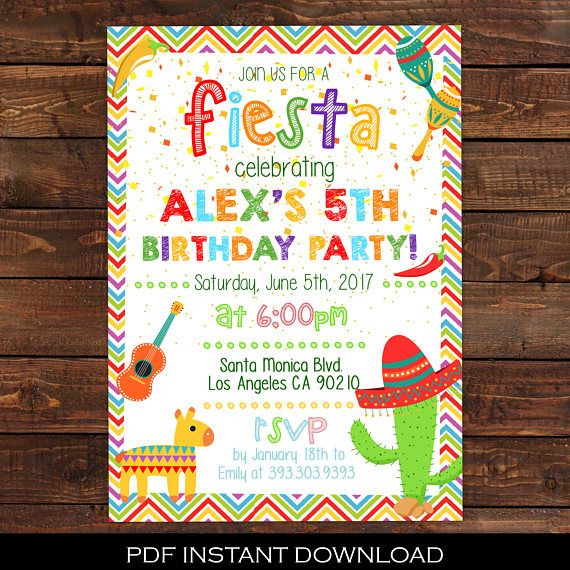 42 best mexican fiesta theme party ideas images on pinterest, Birthday invitations
