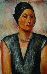 Portret żony by Waclaw Wasowicz