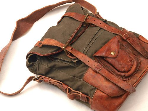RRL Canvas & Leather Bag