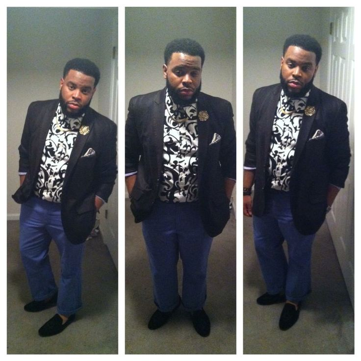 """http://bigguyflyy.tumblr.com/ for big guy fashion!!! mrmiked09: May 23, 2013. """"A night out with the guys"""" Blazer-Macy's Shirt-Stein Mart Jew..."""