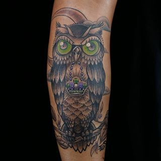 40551200f Ink Master Redemption - Owl tattoo done by artist ES. I love this tattoo!!!!  ES killed his redemption piece.   Tattoos   Ink master, Tattoos, Ink