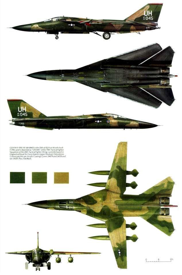 General Dynamics F-111 | Samoloty plansze | Pinterest