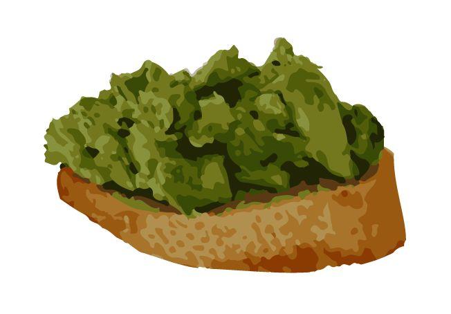 Bruschette all'avocado