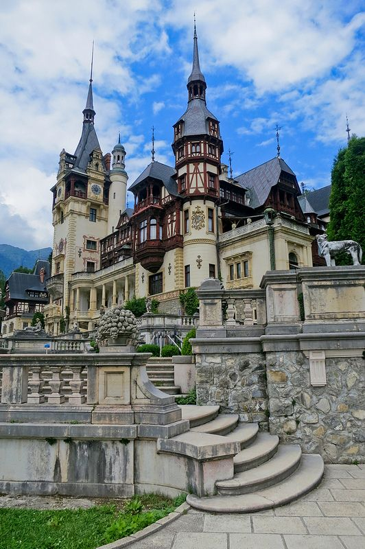 Peleș Castle is a Neo-Renaissance castle in the Carpathian Mountains, near Sinaia, in Prahova County, Romania,