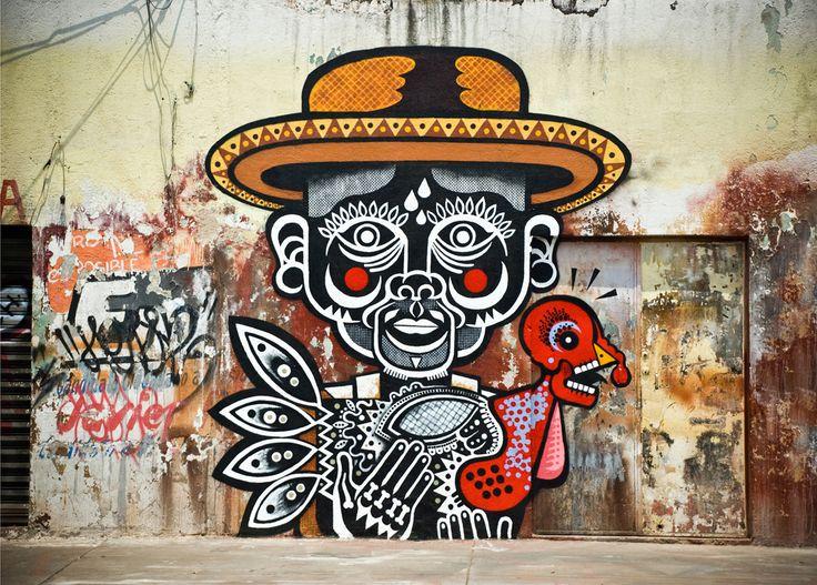 "Street art | Mural ""El abuelo Goyito"" (Mexico City, Mexico) by Neuzz [aka Miguel Mejía]"