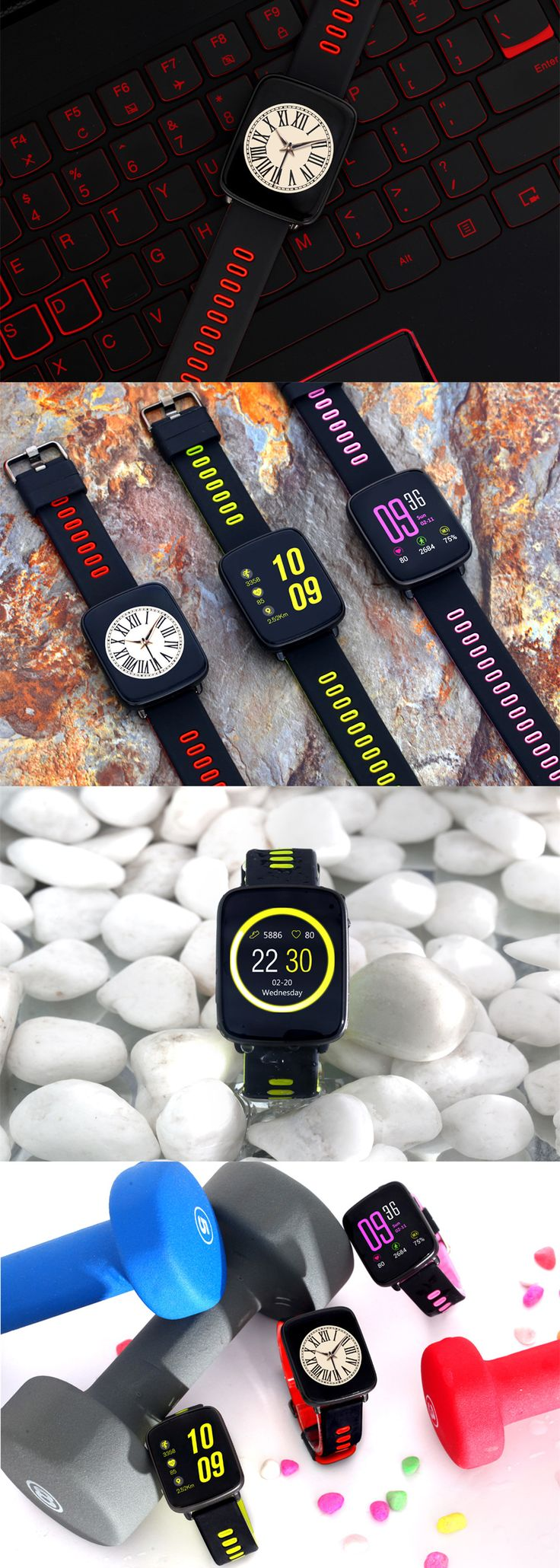 KINGWEAR GV68 MT2502D IP68 Waterproof Swim Call Heart Rate Monitor Smart Watch for IOS Android