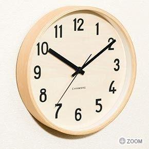 「掛け時計 壁掛け 時計 木製 掛時計 おしゃれ 北欧 見やすい 大きい 新築祝い 引越し祝い プレゼント ギフト 誕生日 CH-026CB Chambre PLY」の商品情報やレビューなど。