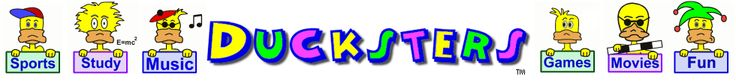 Ducksters: Fun Kid site with safe search, sports, games, jokes, history, biographies, science, math, and homework help.