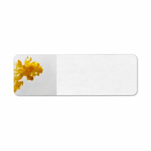 Yellow Ink Drop Photography Return Address Label