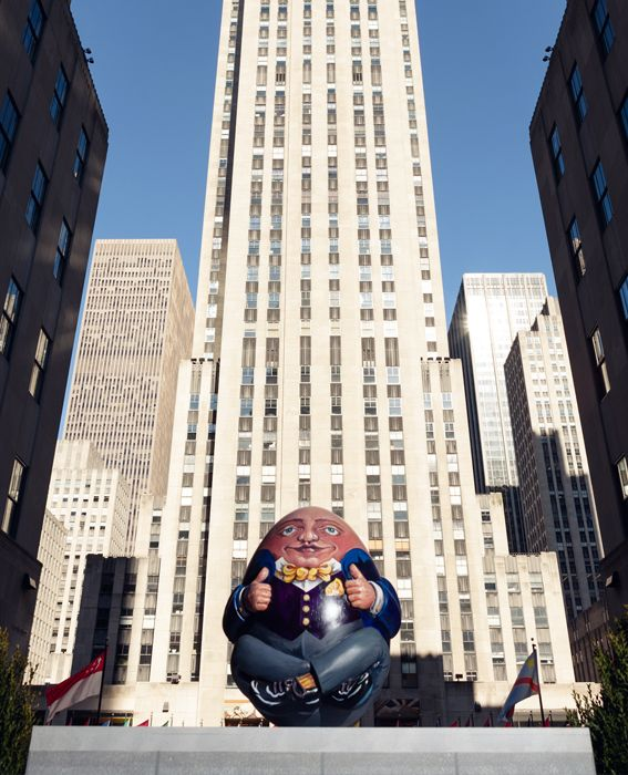 The Fabergé Big Egg Hunt Hits NYC - Humpty Dumpty by The Prince's Drawing School Egg from #InStyle