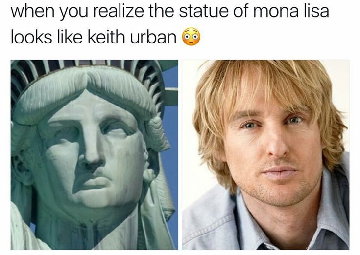 You mean the Statue of Liberty...?<<yeah... why did they put statue of Mona Lisa??