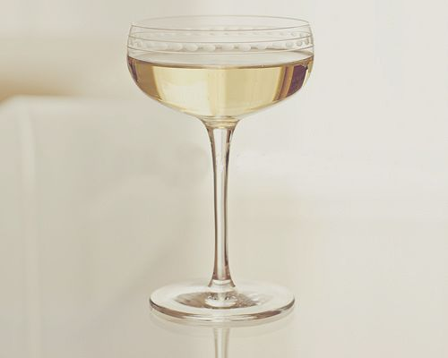 Vintage champagne glass - we are using Mom and Dad's and they look just like this!