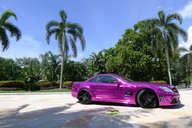 LOUD purple chrome Mercedes SL55