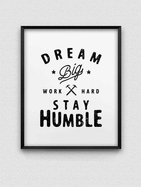 printable dream big work hard stay humble par spellandtell sur Etsy