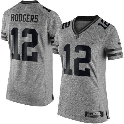 9b8613a8b ... coupon code nfl jersey nike aaron rodgers green bay packers womens gray  gridiron gray limited jersey