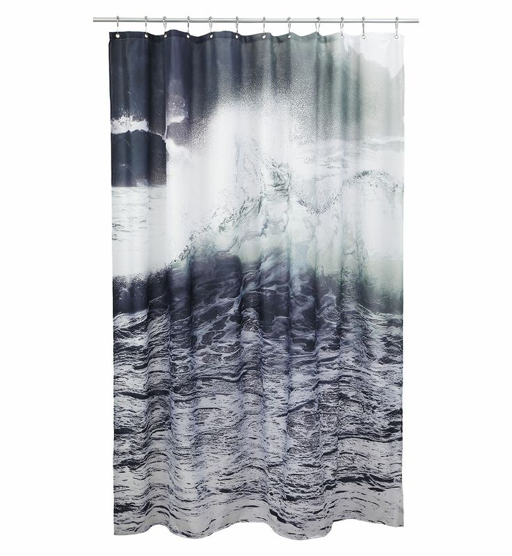 Enjoy the Nordic Sea in your bath room with this cool Wave shower curtain from by nord COPENHAGEN