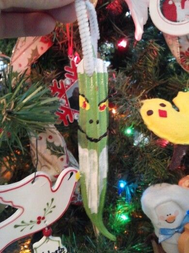 Grinch okra ornaments 2012