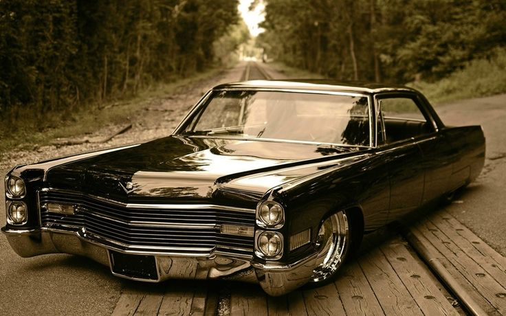 Cadillac De Ville, retro car, low rider, машина, тачка