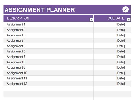 Best  Assignment Planner Ideas Only On   College
