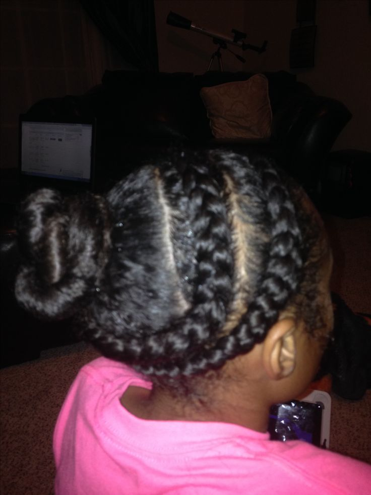 Creative Buns Girls Natural Hairstyles