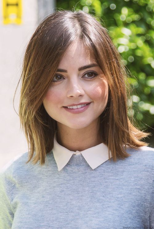 Jenna Coleman takes selfies with fans on the set of Doctor Who