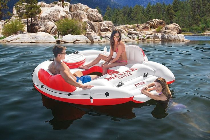 Inflatable Floating Island Pool Floats & Rafts Lounge Beach Lake River Raft Boat #Unbranded