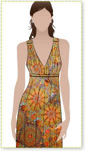 Lazy Daisy Sewing Pattern By Style Arc - Easy jersey pull-on sun dress